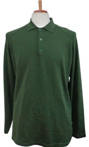 Tommy Bahama TOMMY BAHAMA Man's Green Silk Blend Polo Neck Top - Size M