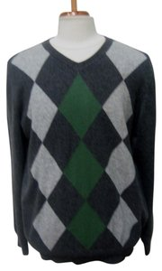 Apt. 9 APT. 9 Man's Dark 100% Cashmere V-Neck Sweater- Sz XL