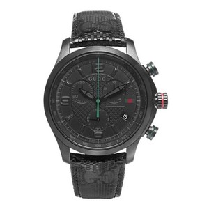 Gucci Gucci G-Timeless Black PVD G-Fabric Strap Men's Watch YA126244