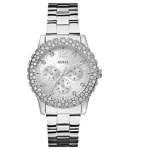 Guess Guess Women's Silver-Tone Multi-Function Watch U0335L1