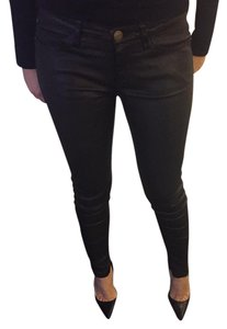 Current/Elliott Lamb Leather Skinny Pants Black