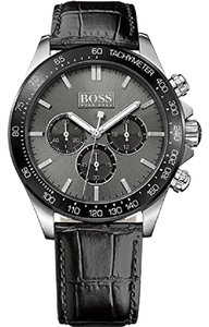 Hugo Boss Hugo Boss Men's Ikon 1513177 Black Leather Quartz Watch