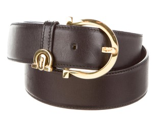 Salvatore Ferragamo SALVATORE FERRAGAMO LEATHER BUCKLED BELT