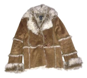 eStudio Faux Fur Suede Fur Coat