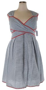 Jessica Simpson short dress White & Navy Nautical Sailor Plus Plus-size Sweetheart on Tradesy