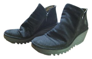 FLY London Black Suede Boots