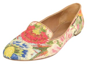 Alexander McQueen Floral Embroidered Loafers multi-colored Flats