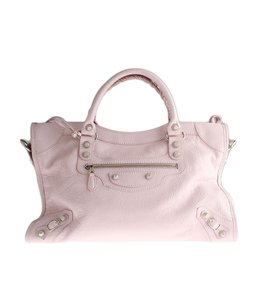 Balenciaga Baby Leather Satchel in Pink