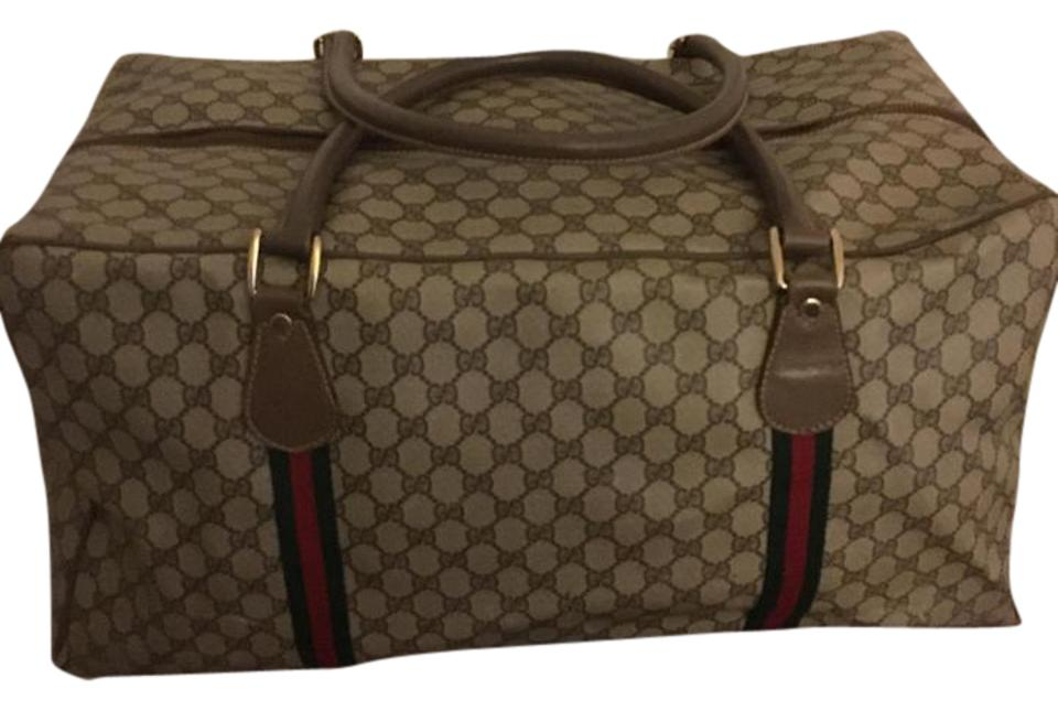 Gucci Classic Brown with Green and Red Canvas Stripes ...