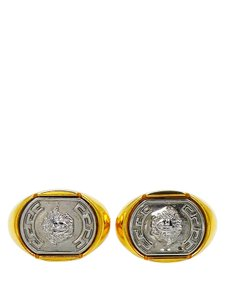Versace Versace Gold and Silver Tone Medusa Head Cuff Links