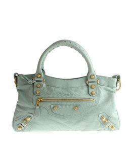 Balenciaga Two-way Handbag Satchel in Blue