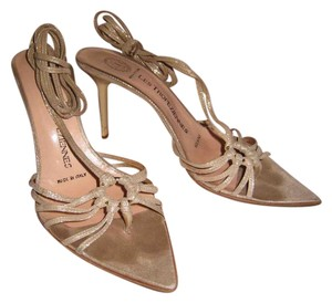 Les Tropeziennes Nude with metallic sheen Sandals