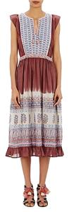 Rose Maxi Dress by Ulla Johnson Ombre Indian Tassels Ruffle