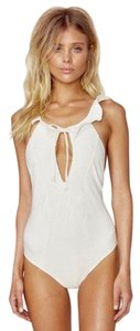 For Love & Lemons Belize Ruffled one-piece Swimsuit