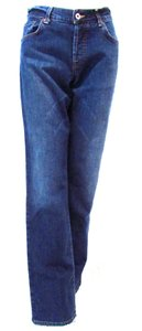 Lucky Brand Medium Wash Easy Rider Dungaree Trouser/Wide Leg Jeans-Medium Wash