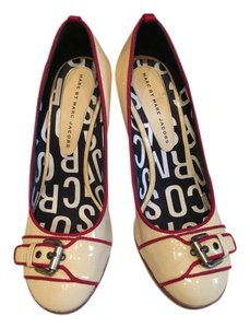 Marc by Marc Jacobs Patent Cream Leather Pumps