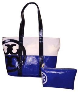 Tory Burch Tote in Jelly blue/Natural