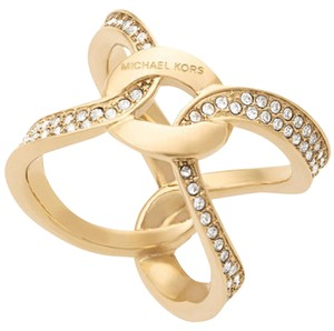 Michael Kors Michael Kors Pave Crystal Interlock Ring