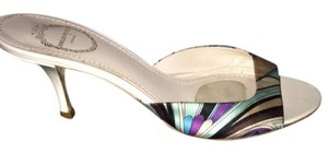 Emilio Pucci Blue/white/purple/Aqua/black Sandals