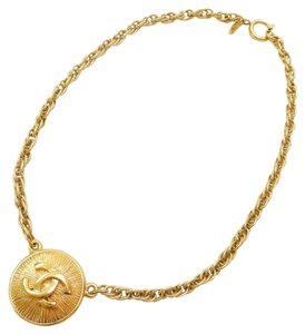 Chanel Chanel CC Logo Medallion Choker Necklace
