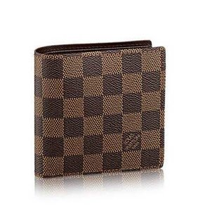 Louis Vuitton Damier Ebene Marco Bifold Wallet with Coin Pocket