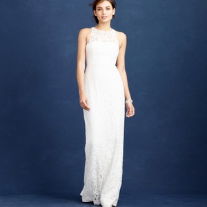 J.Crew Ivory Pamela Feminine Wedding Dress Size 0 (XS)