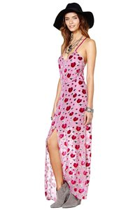Pink Floral Maxi Dress by For Love & Lemons Velvet Flowy Maxi