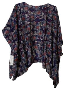 Tanzara 2x 2xl Plus Coverup Wrap Top Multi