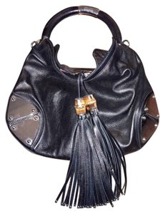 Gucci Indy Leather Tassels Hobo Bag