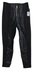 Guess Pant Skinny Pants black and black leather