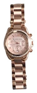 Michael Kors Michael Kors Rose Gold Watch W/Crystal on Bezel.