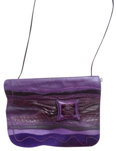 Carlos Falchi Falchi Leather Suede Cross Body Bag