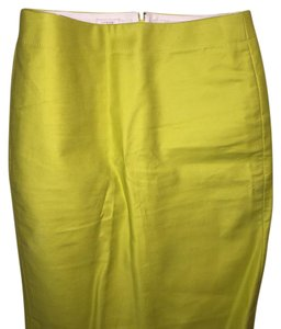 J.Crew Skirt Yellow Green Chartreuse