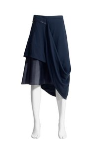 Maison Martin Margiela for H&M Navy Asymmetrical Avant Garde Skirt Navy Blue