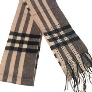Burberry Burberry Giant Check !00% Cashmere Skinny Scarf with Studs