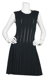 ALAÏA Alaia Fit-flare Skater Wool Perforated Dress