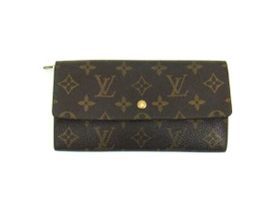 Louis Vuitton Sarah Monogram Canvas Leather Clutch Wallet France