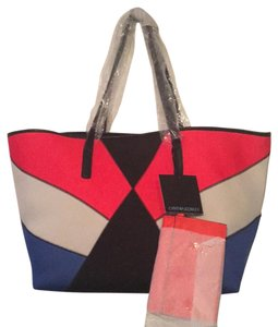 Cynthia Rowley Scuba Golden Hardware Tote in Color-block