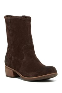 UGG Australia Suede Chunky Bootie Boot Brown Boots