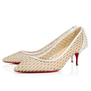 Christian Louboutin Guni Pump Beige White Ivory Pumps