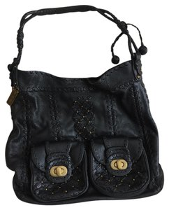 Lockheart Studded Leather Unique Hobo Bag