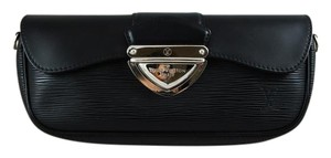 Louis Vuitton Epi Leather Leather Black Clutch