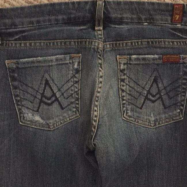 Seven7 Boot Cut Jeans-Distressed Image 2