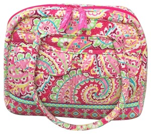 Vera Bradley Quilted Fabric Print Versatile Tote in Variety of shades of pink