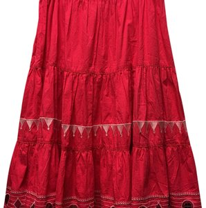 Diane Gilman Maxi Skirt Red