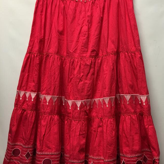Diane Gilman Maxi Skirt Red Image 1