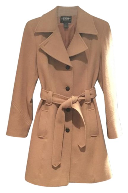 Item - Camel Wool Winter Small Coat Size 6 (S)