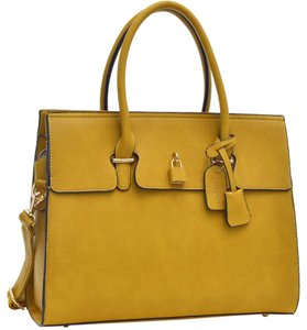 Other Classic Large Handbags The Treasured Hippie Vintage Satchel in Mustard Yellow