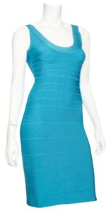Hervé Leger Blue Sydney Cocktail Dress