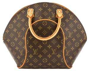 Louis Vuitton Mm Elippse Domed Handbag Monogram Satchel in Brown